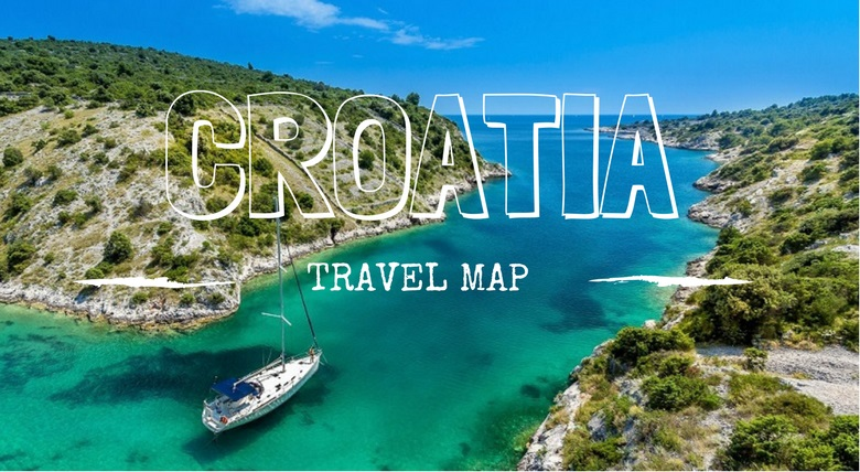 map of croatia