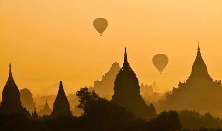 Hot Air Balloon flight over Bagan